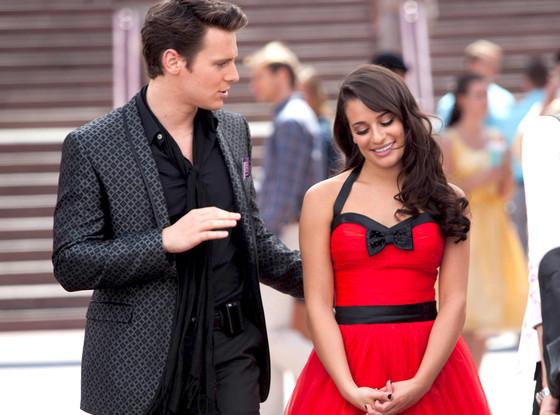 Lea Michele, Jonathan Groff, Glee