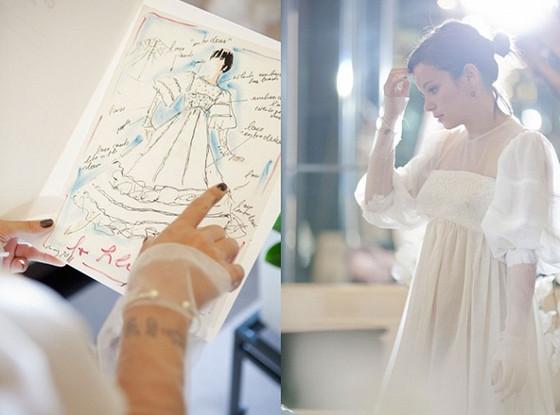 Lily Allen, Chanel Wedding Reception Dress