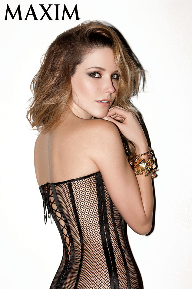 Sophia Bush Strips For Maxim Shows Cleavage In Mesh Corset E Online