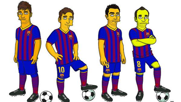 FC Barcelona, Simpsons