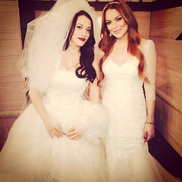 Kat Dennings, Lindsay Lohan, Instagram