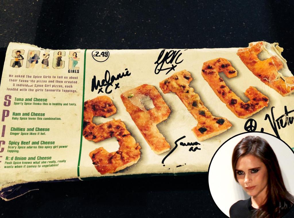 Victoria Beckham, Spice Girls, Pizza