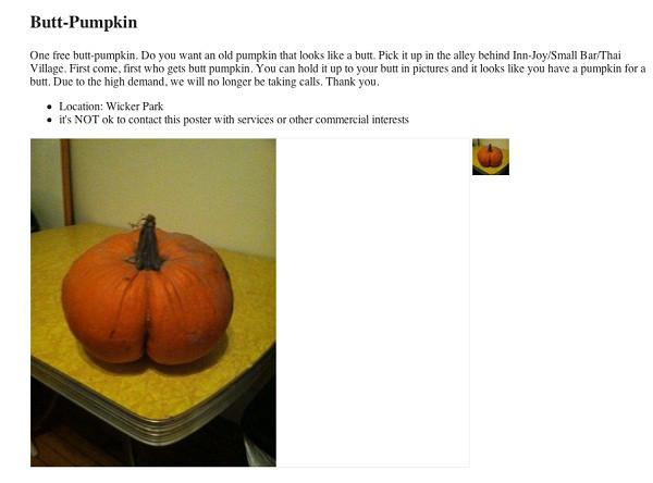 Butt Pumpkin From It Came From Craigslist  E News-1555