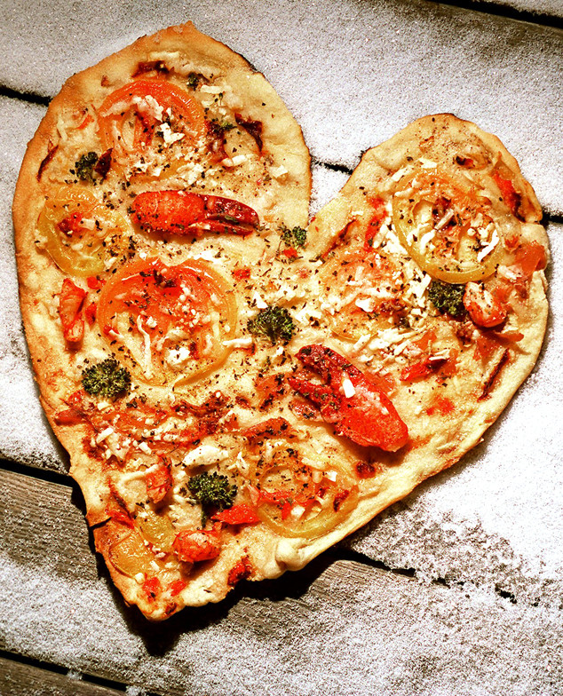 Pizza, Pie, Heart Shaped Pizza