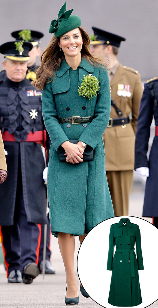 Kate Middleton, Hobbs Green Trench Coat, 2014