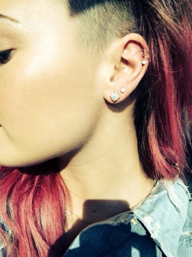 Demi Lovato, Piercings, Twit Pic