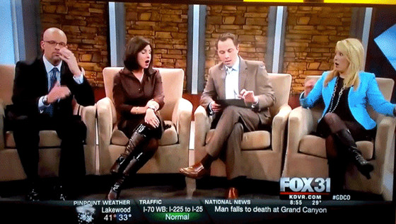 Denver FOX Show, Penis Pic, Horror