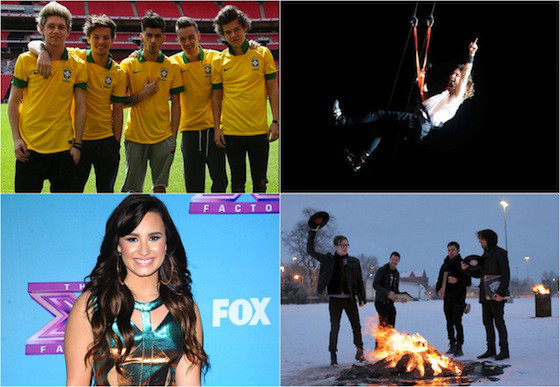 Shows Brasil 2014, One Direction, 30 Seconds to Mars, Demi Lovato, Fall Out Boy