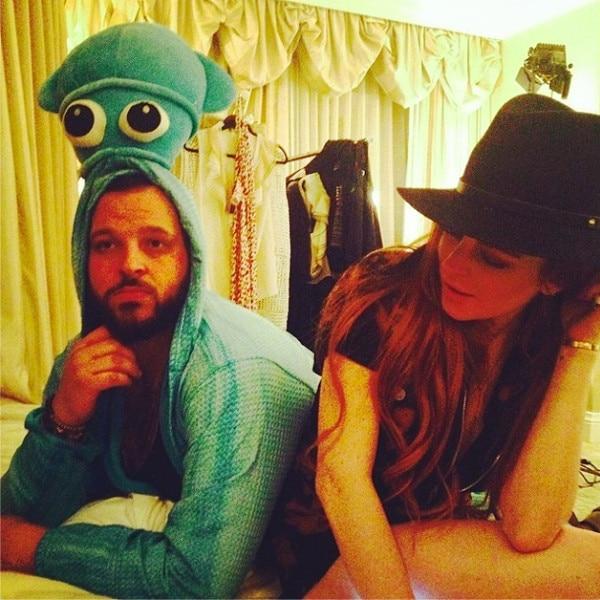 Lindsay Lohan, Daniel Franzese, Instagram