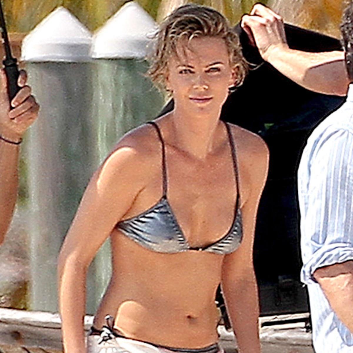 Theron bikini charlize 45 Hot