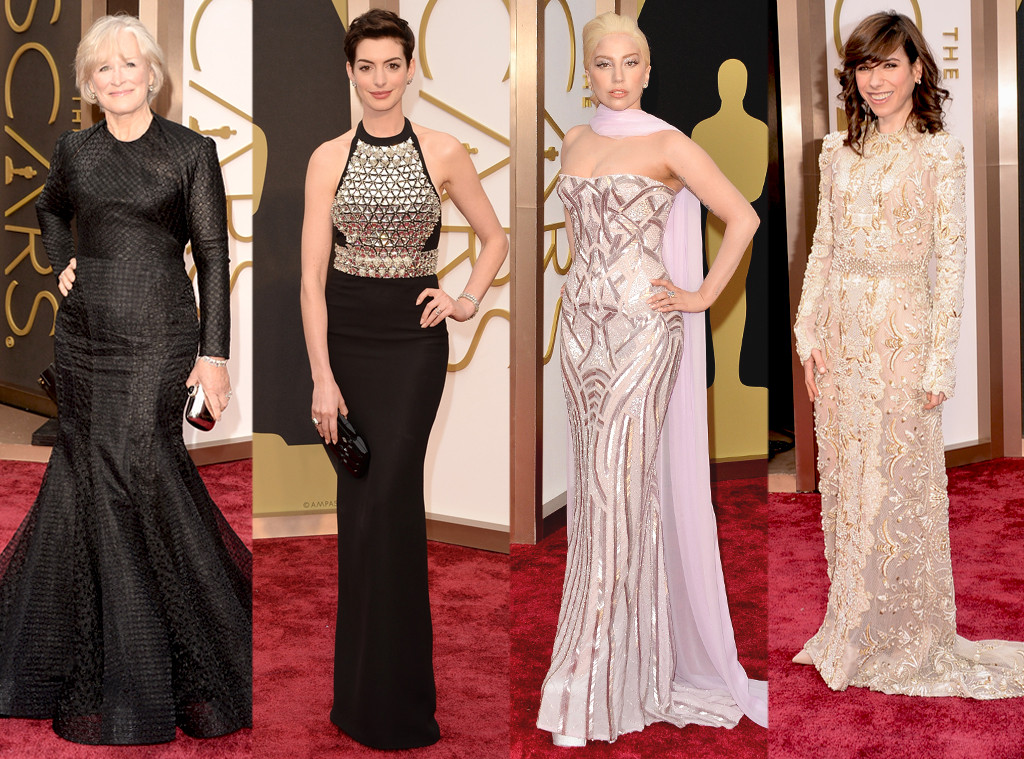 Anne Hathaway, Glenn Close, Sally Hawkins, Lady Gaga, Oscars