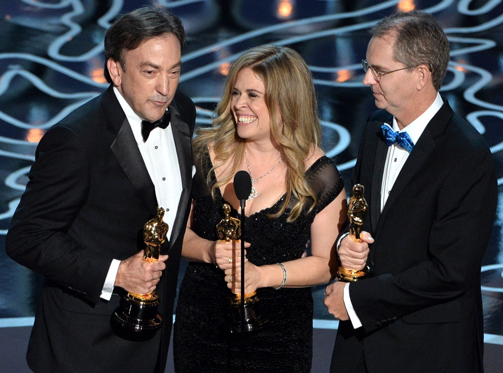 Peter Del Vecho, Jennifer Lee, Chris Buck, Oscars Winners