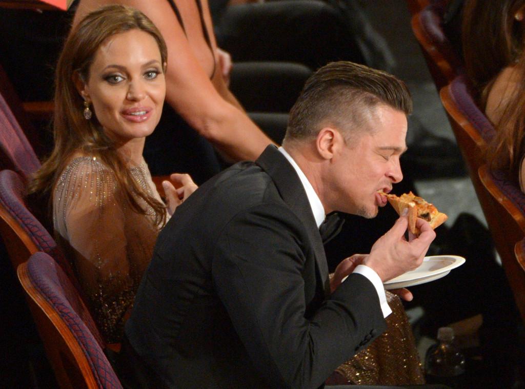 Angelina Jolie, Brad Pitt, Oscars, Pizza