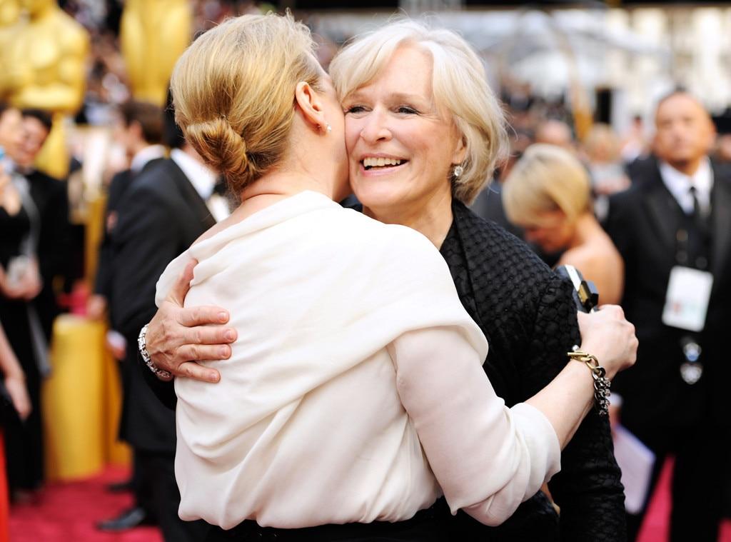 Meryl Streep, Glenn Close. Oscars, Candid