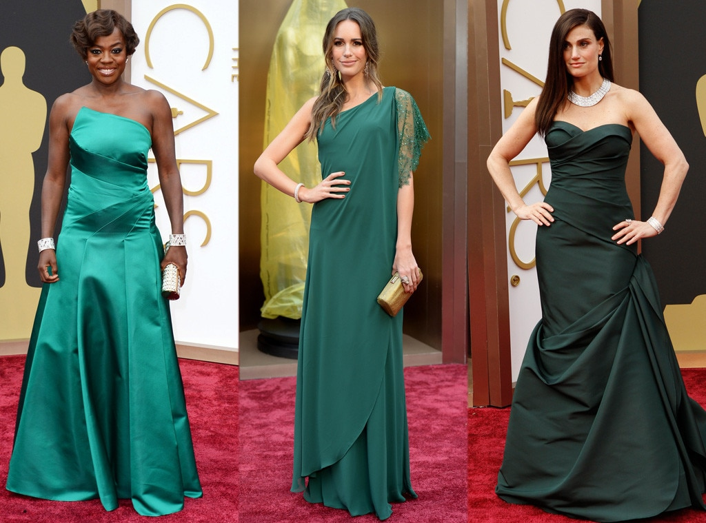 Oscars, Green, Viola Davis, Louise Roe, Idina Menzel