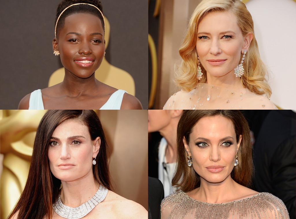 Angelina Jolie, Cate Blanchett, Indina Menzel, Lupita Nyong'O, Oscars, Best Accessories