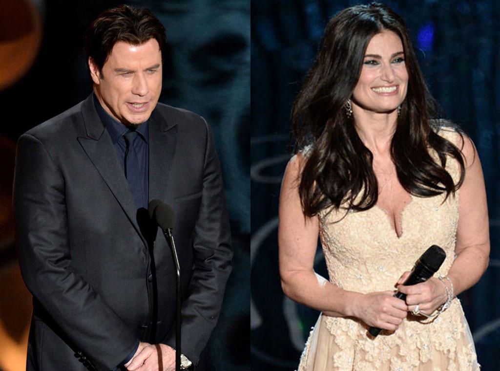 John Travolta, Idina Menzel, Oscars Show