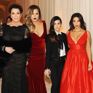 Kris Jenner, Khloe Kardashian, Kourtney Kardashian, Kim Kardashian, Oscars Elton John Party 2014