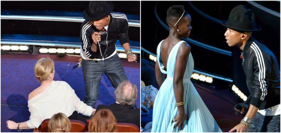 Pharrell Williams, Meryl Streep, Lupita Nyong'o, melhores momentos Oscar