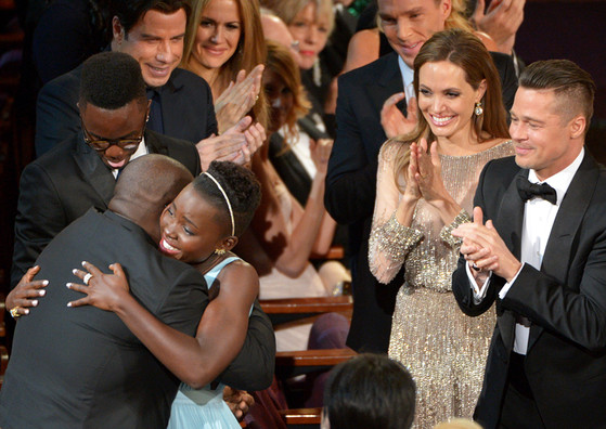 Steve McQueen, Lupita Nyong'o, John Travolta, Kelly Preston, Benedict Cumberbatch, Angelina Jolie, Brad Pitt, Candid
