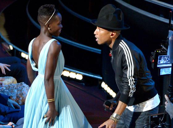 Lupita Nyong'o, Pharrell, Oscars Dancing