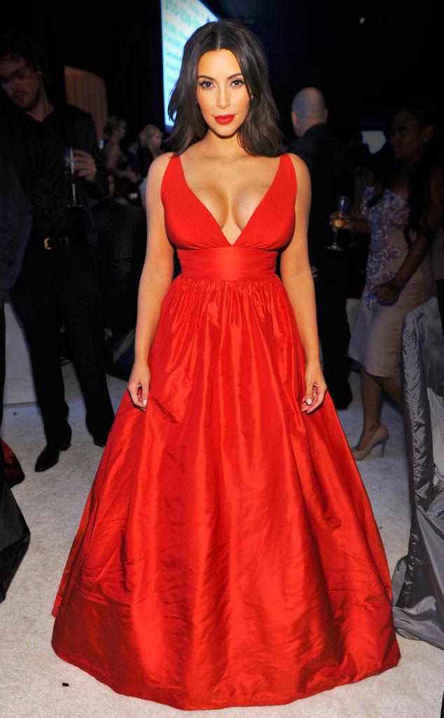 Kim Kardashian, Oscars Elton John Party 2014