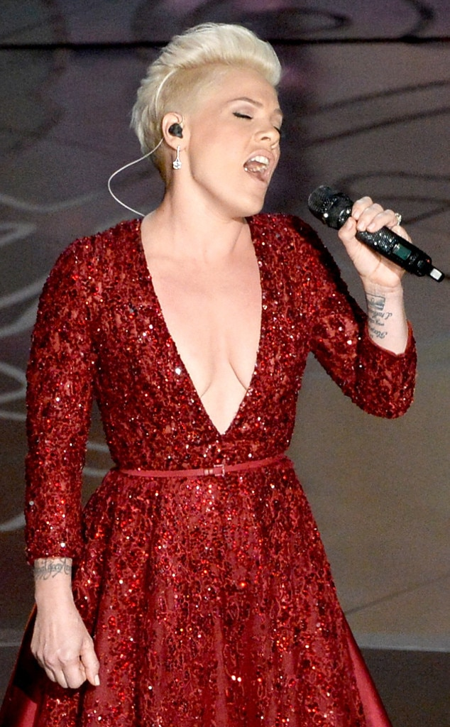 nipple pierced pink Singer