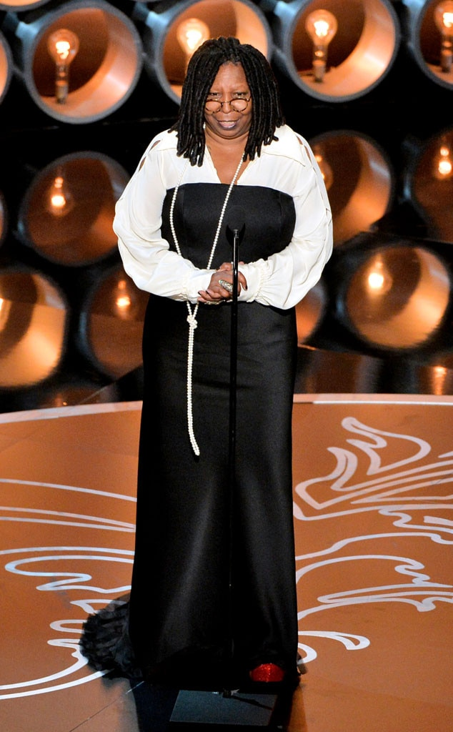 Whoopi Goldberg - Academy Awards:  Best Actress in a Supporting Role,  Ghost  (1990) Daytime Emmy Awards:  Outstanding Special Class Special,  Beyond Tara: The Extraordinary Life of Hattie McDaniel  (2002); Outstanding Talk Show Host,  The View  (2009) Grammy Awards:  Best Comedy Recording,  Whoopi Goldberg—The Original Broadway Show Recording  (1985) Tony Awards:  Best Musical,  Thoroughly Modern Millie  (2002)