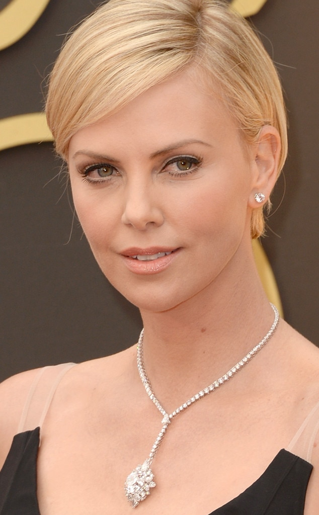 charlize theron from beauty police  2014 oscars