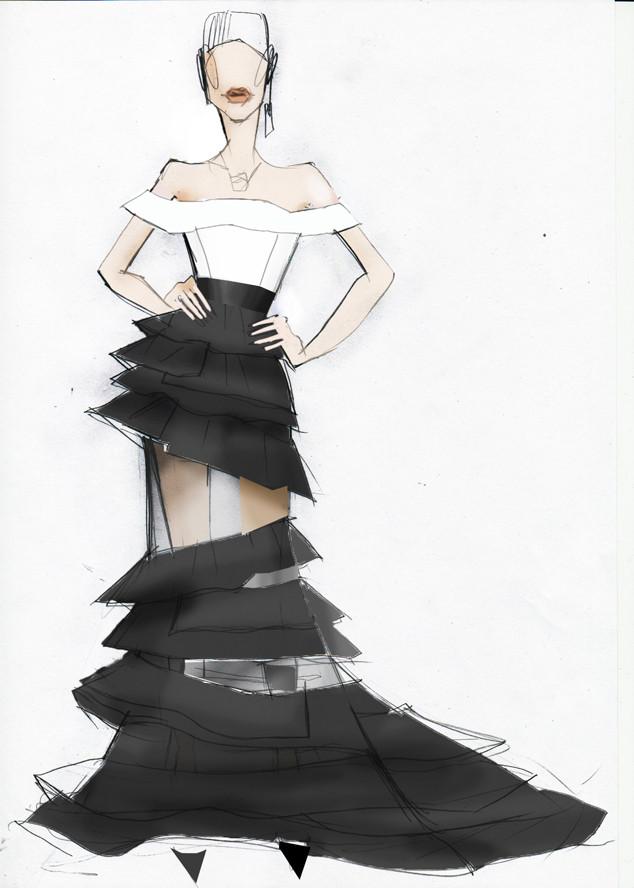 Debby Ryan, Oscar Dress