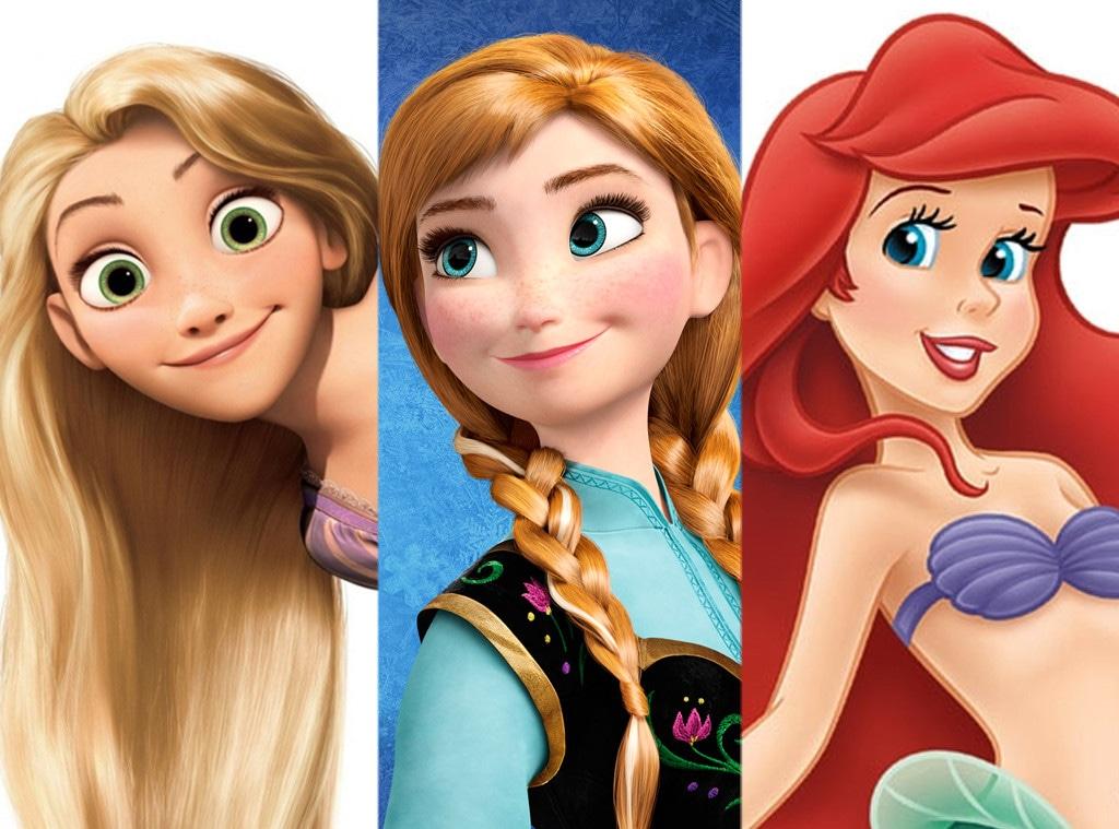 Rapunzel, Anna, Ariel