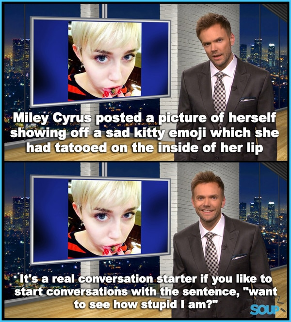 Miley Cyrus Kitty Emoji from The Soup In Pictures   E! News