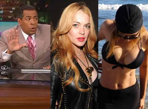 Lindsay Lohan, Naya Rivera, LA Newscaster