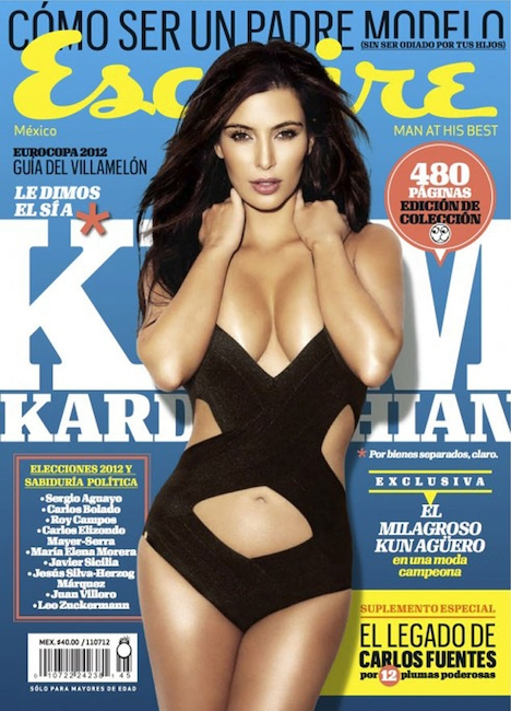 9b0f6abc78093 June 2012. Kim sizzles on the cover of Esquire Mexico. Kim Kardashian