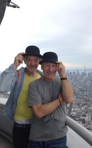 Ian McKellen, Patrick Stewart, Twitter