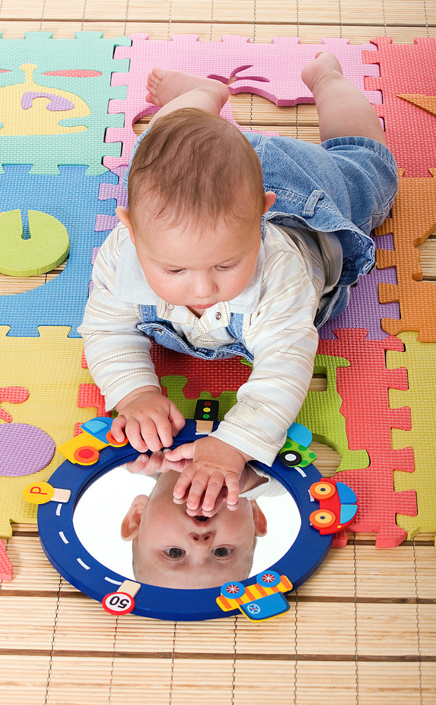 Baby Playing with Mirror, Baby Gallery