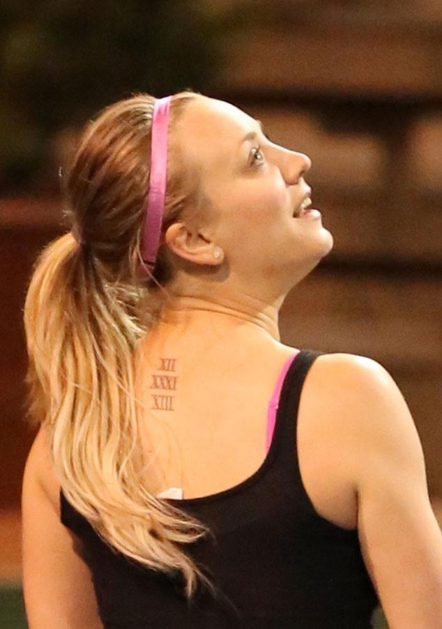 Kaley Cuoco, Kaley Cuoco-Sweeting Tattoo