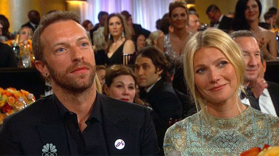 Chris Martin, Gwyneth Paltrow, Golden Globes 2014