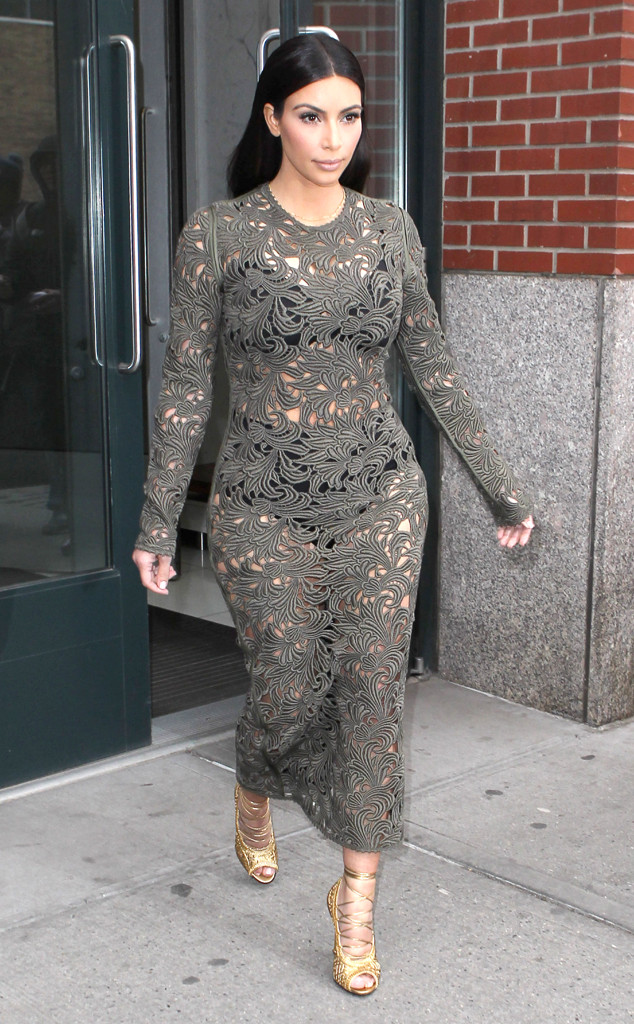 9ce67ef8ae0 Kim Kardashian Wears Another See-Through Dress Over Underwear! See ...
