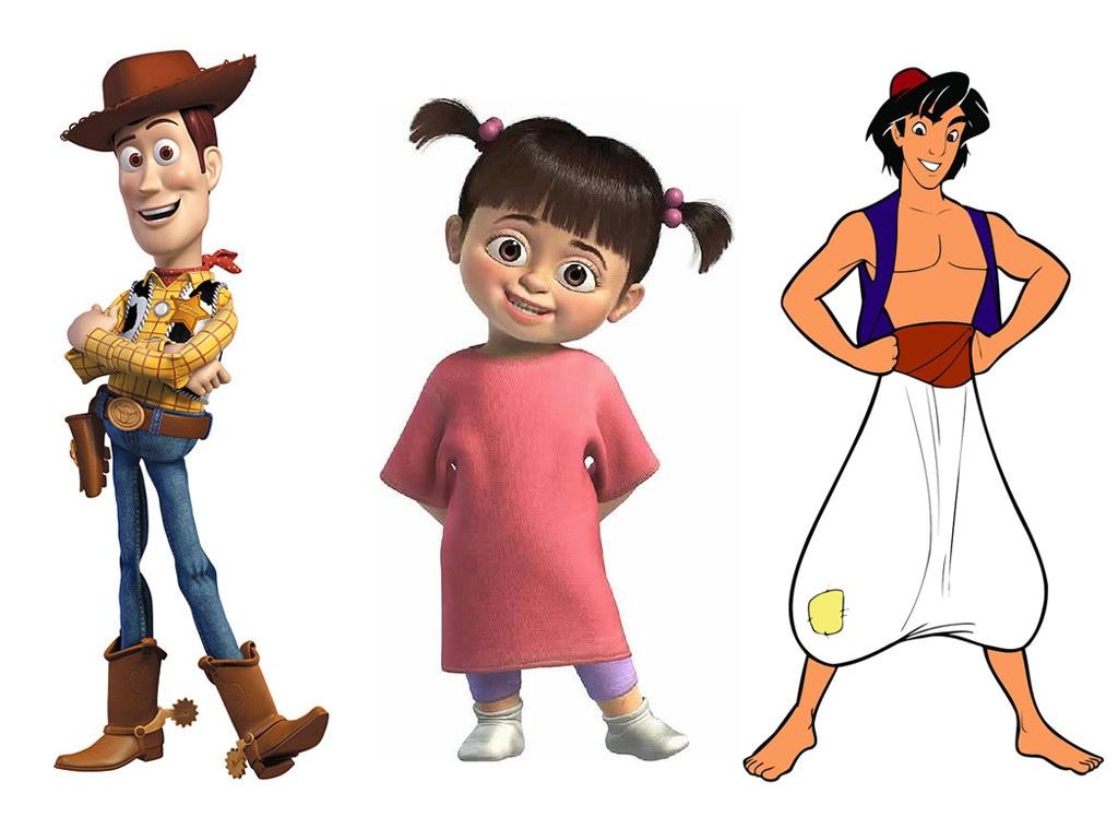Woody, Boo, Aladdin