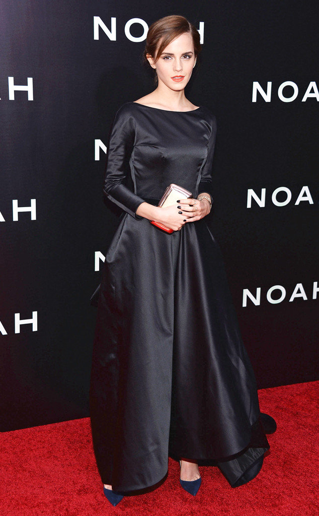 Emma Watson Wears a Rather Somber Black Gown to Noah\'s NYC Premiere ...