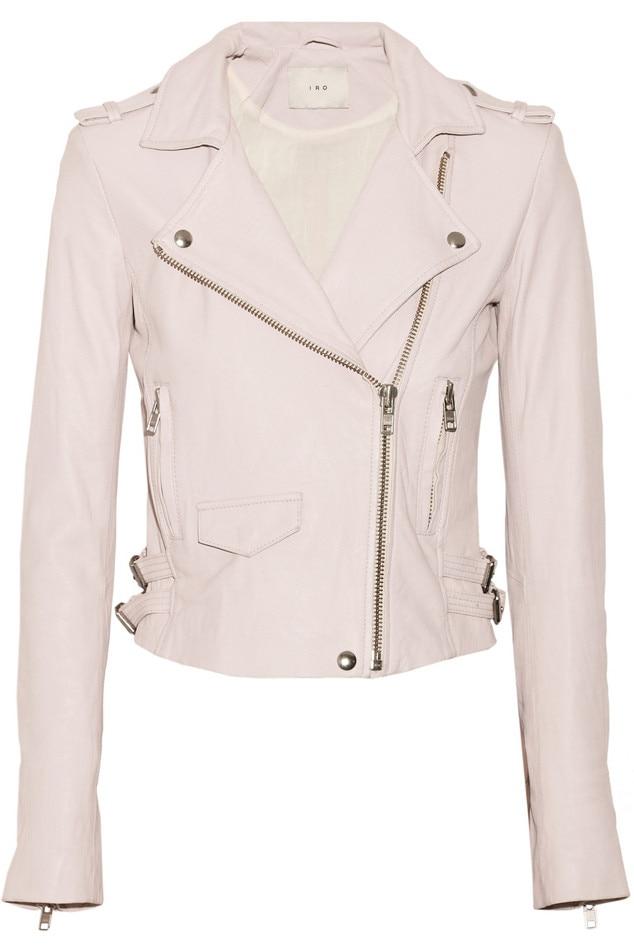 Hilary Duff, Coachella, IRO Pink Leather Jacket