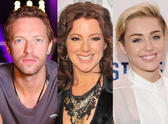 Sarah McLachan, Chris Martin, Miley Cyrus