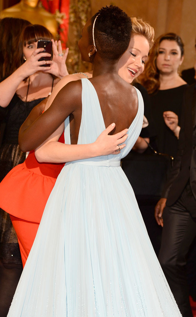 Jennifer Lawrence, Lupita Nyong'o, Oscars