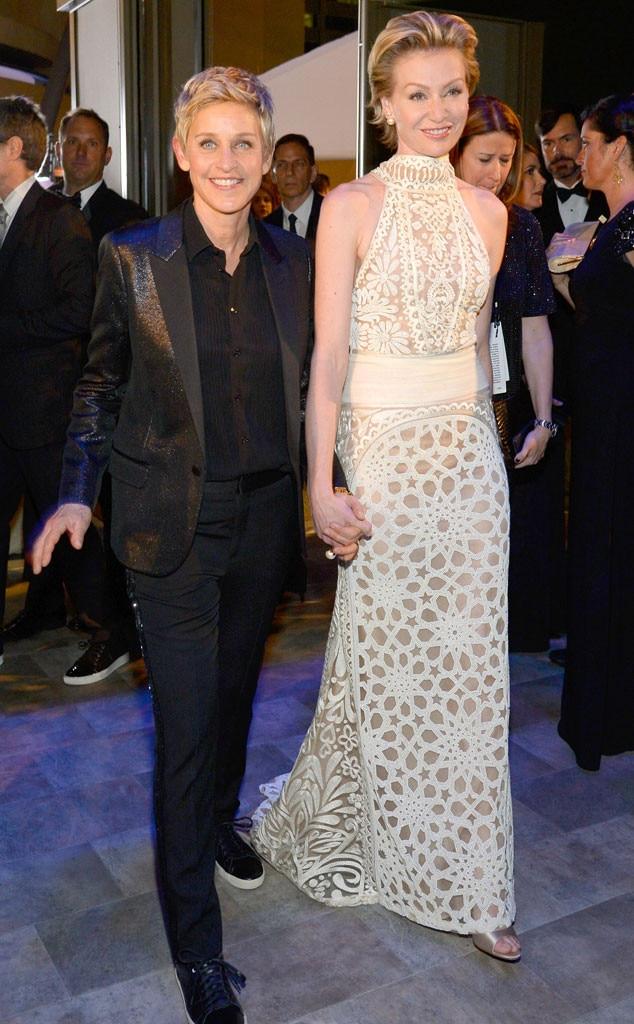 Ellen DeGeneres, Portia de Rossi, Governors Ball, Oscars