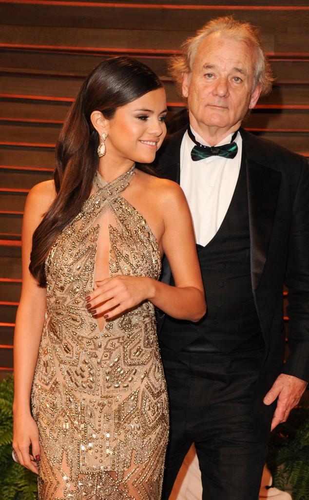 Selena Gomez, Bill Murray, Oscars Vanity Fair Party, Photobomb