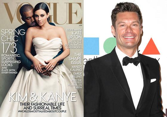 Kim Kardashian, Kanye West, Vogue, Ryan Seacrest