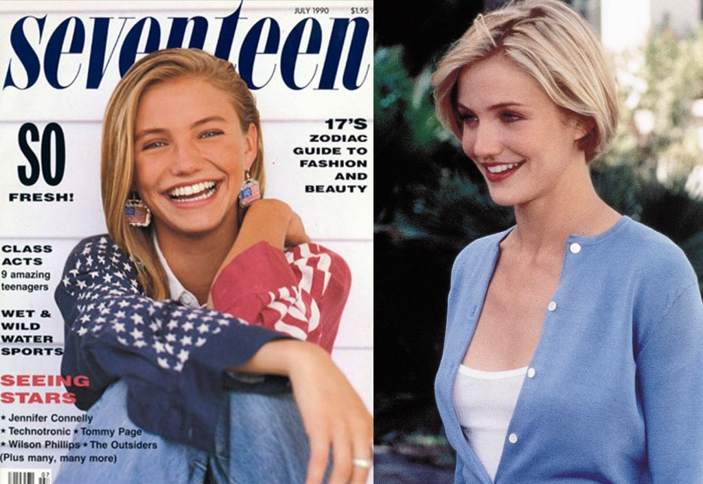 Cameron Diaz, Modeling, Seventeen, There's Something About Mary