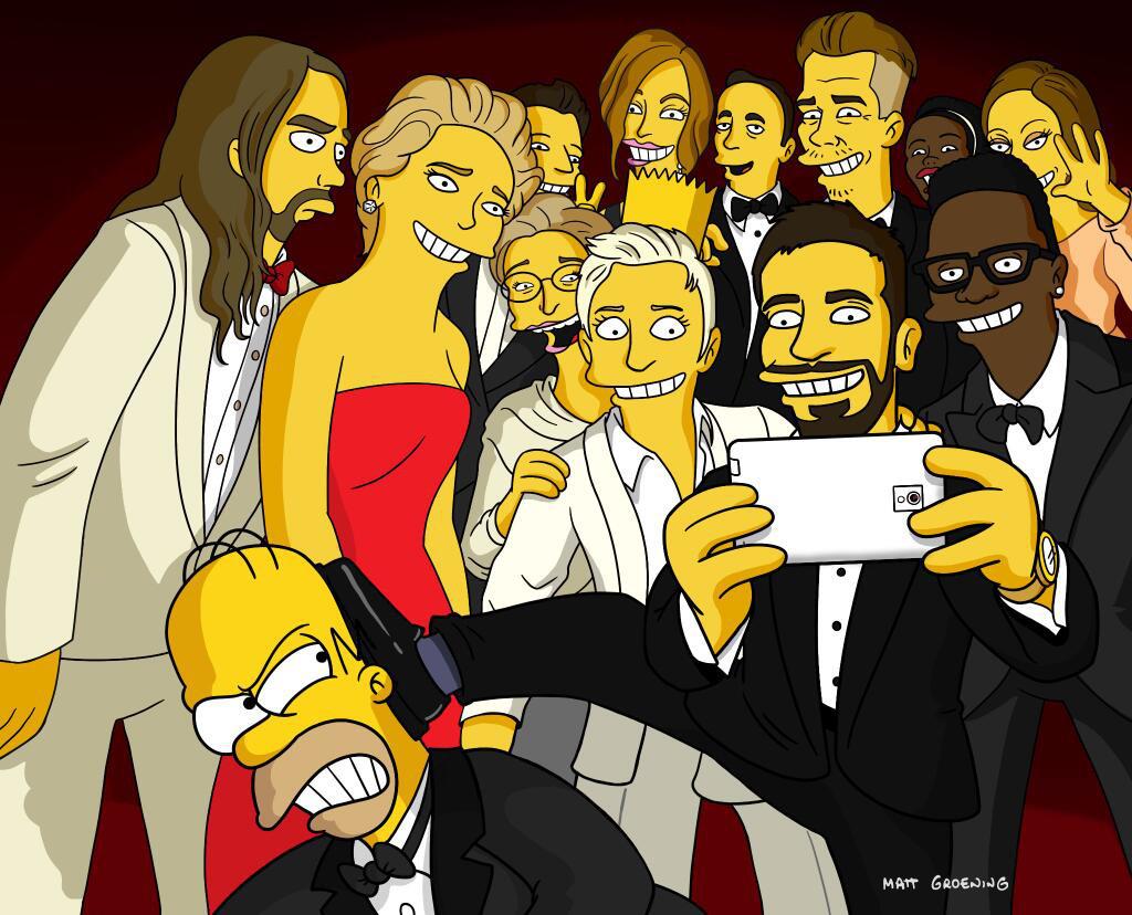 Ellen Selfie Recreations, The Simpsons