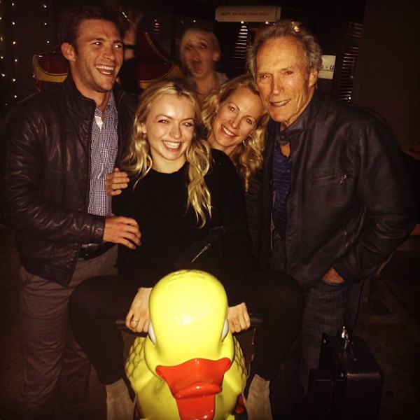 scott eastwood has fun family dinner with dad clint